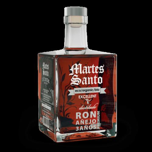 Ron Añejo 3 años Excellent Organic Premium Martes Santo